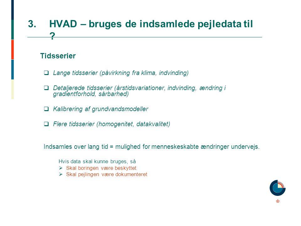 3. HVAD – bruges de indsamlede pejledata til