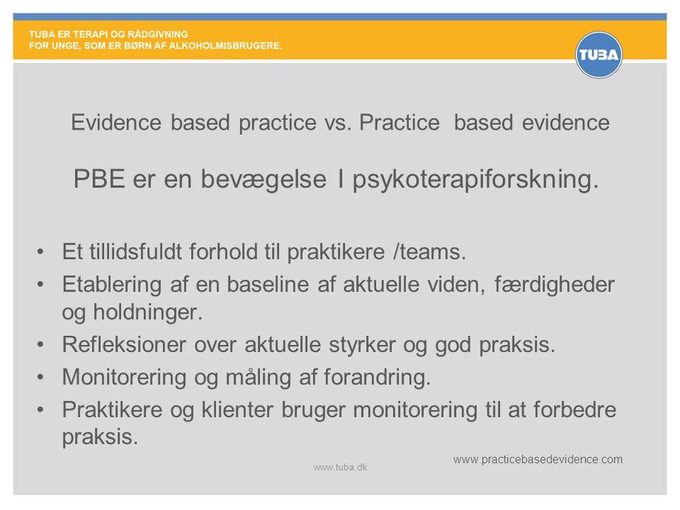 Evidence based practice vs. Practice based evidence