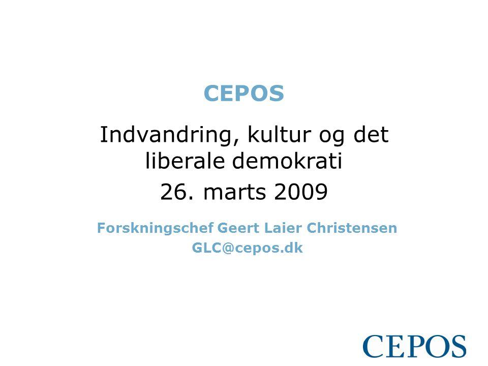 Indvandring, kultur og det liberale demokrati 26. marts 2009