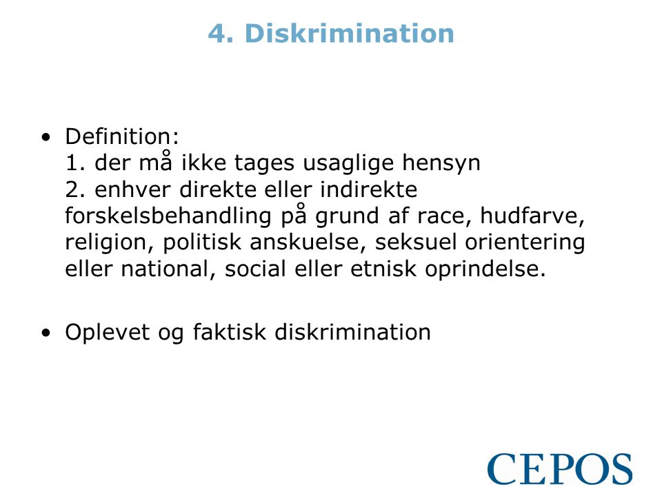 4. Diskrimination