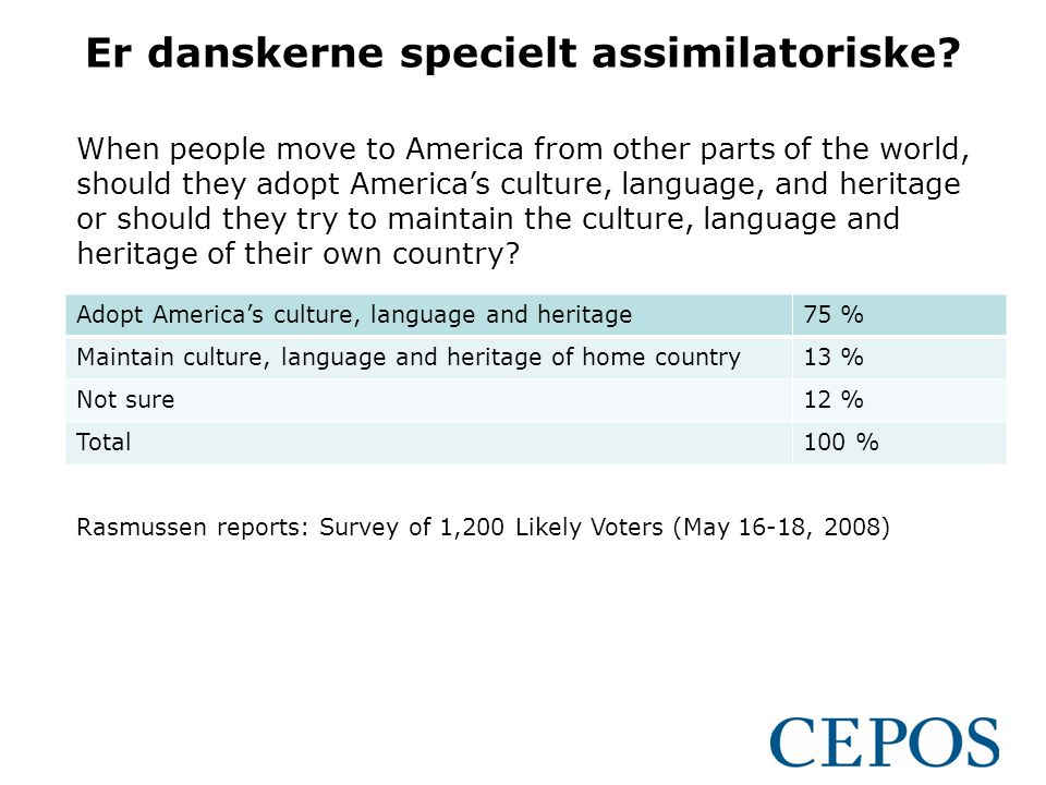 Er danskerne specielt assimilatoriske