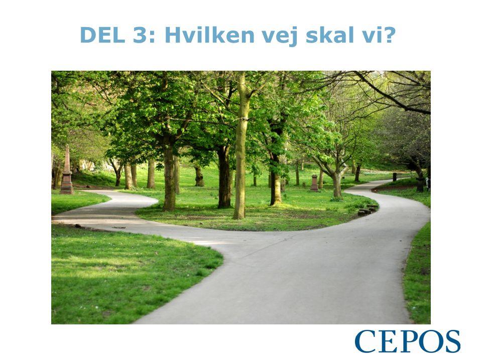 DEL 3: Hvilken vej skal vi