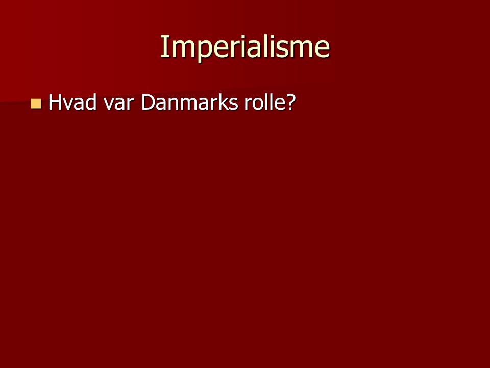 Imperialisme Hvad var Danmarks rolle