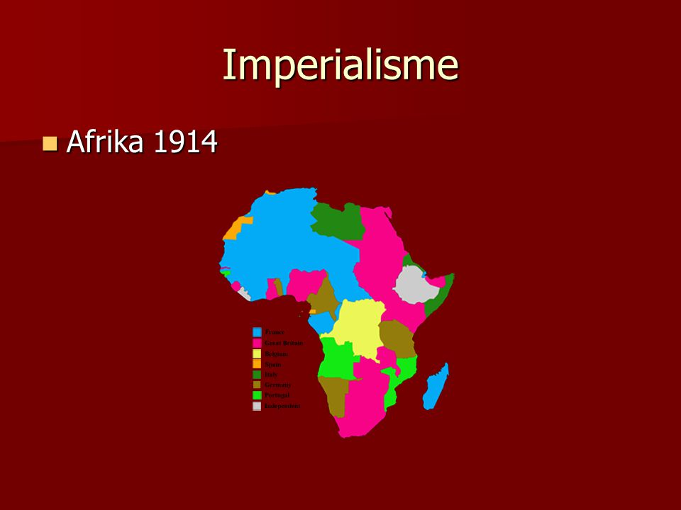 Imperialisme Afrika 1914