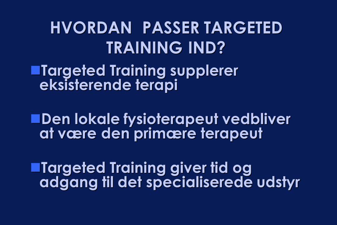 HVORDAN PASSER TARGETED TRAINING IND