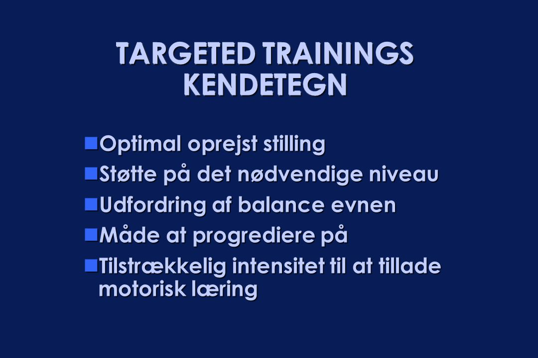 TARGETED TRAININGS KENDETEGN