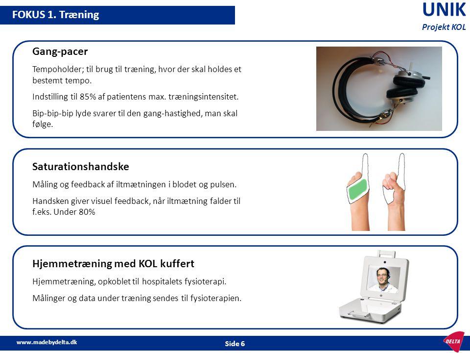 UNIK FOKUS 1. Træning Gang-pacer Saturationshandske