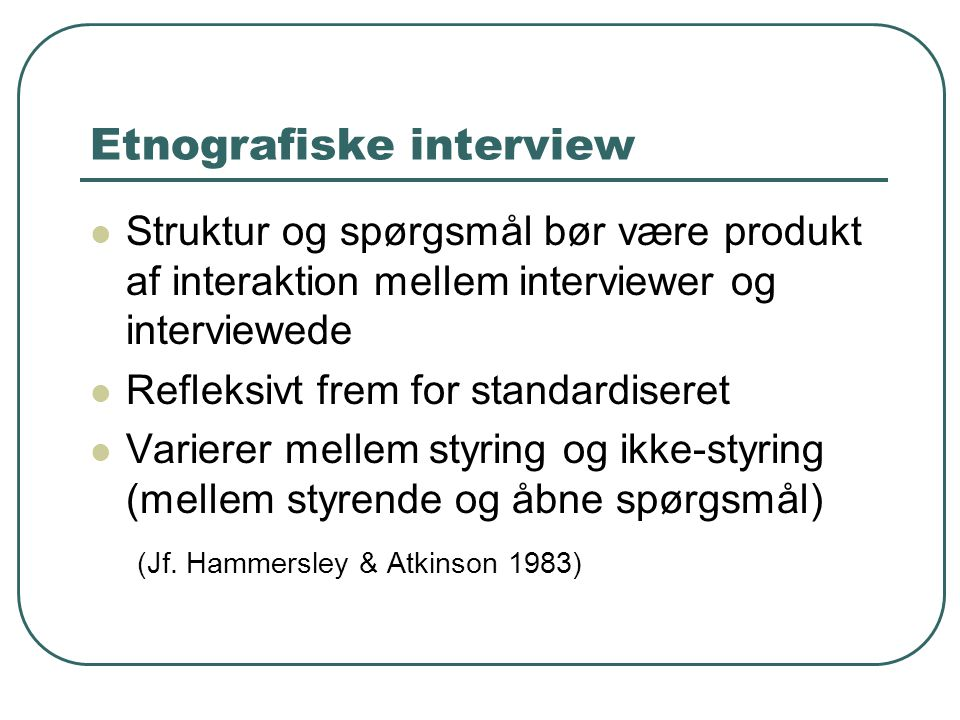 Etnografiske interview