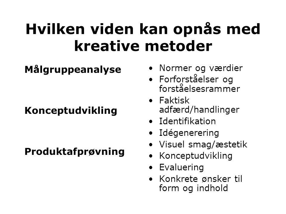 Hvilken viden kan opnås med kreative metoder