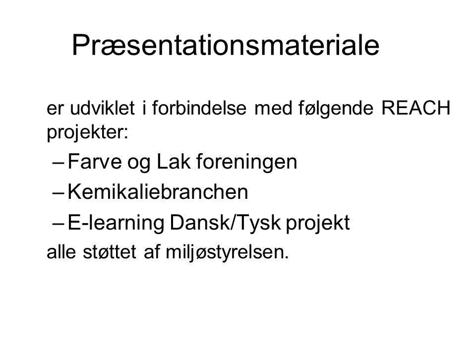 Præsentationsmateriale