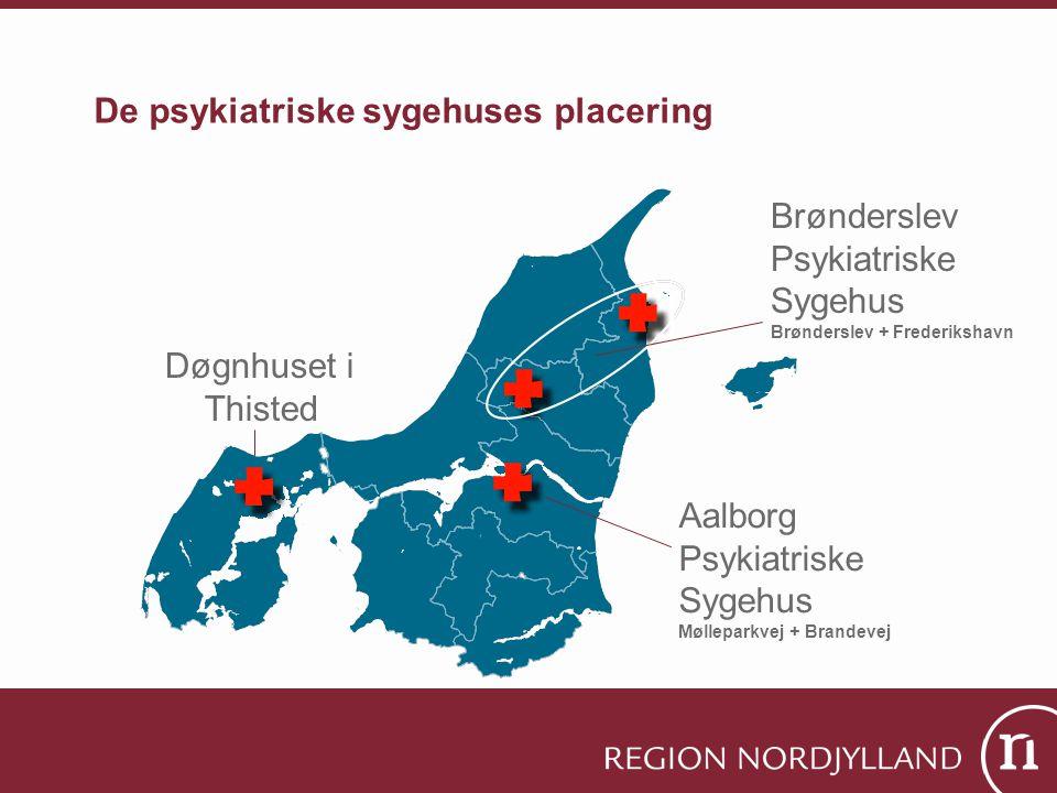 De psykiatriske sygehuses placering