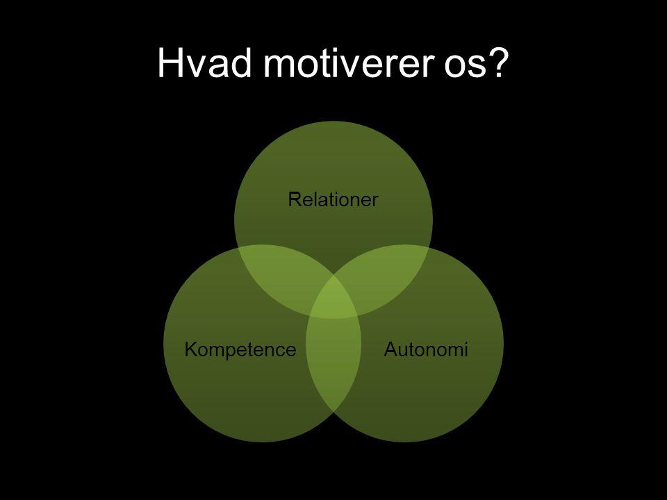Hvad motiverer os Relationer Autonomi Kompetence