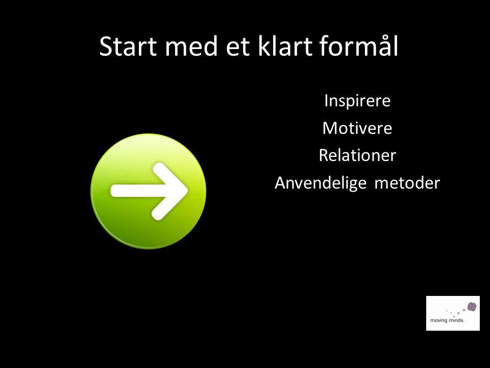 Start med et klart formål