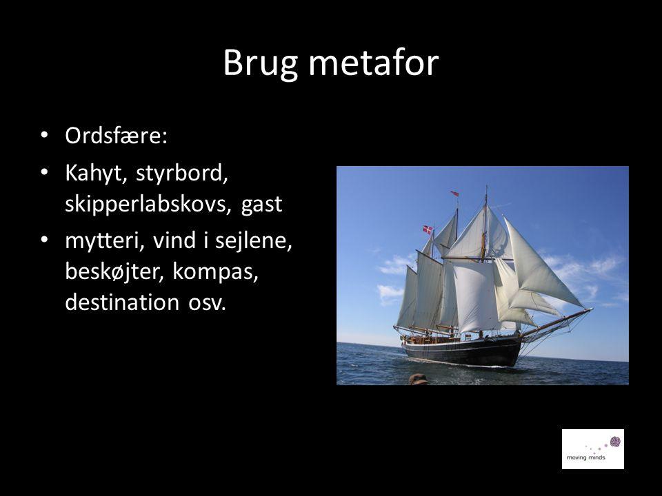 Brug metafor Ordsfære: Kahyt, styrbord, skipperlabskovs, gast