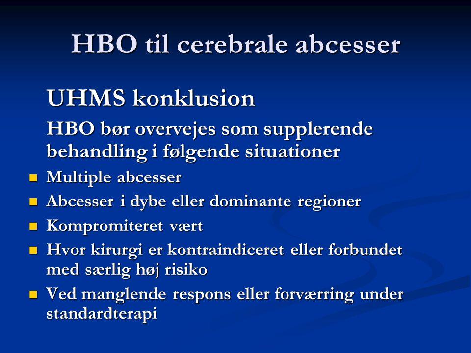 HBO til cerebrale abcesser
