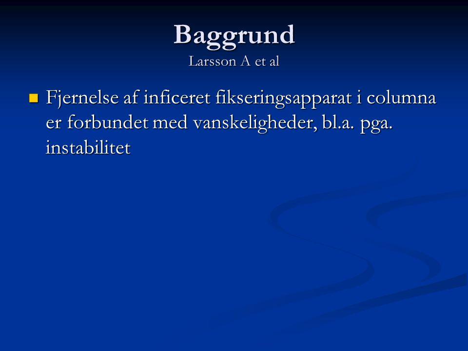 Baggrund Larsson A et al