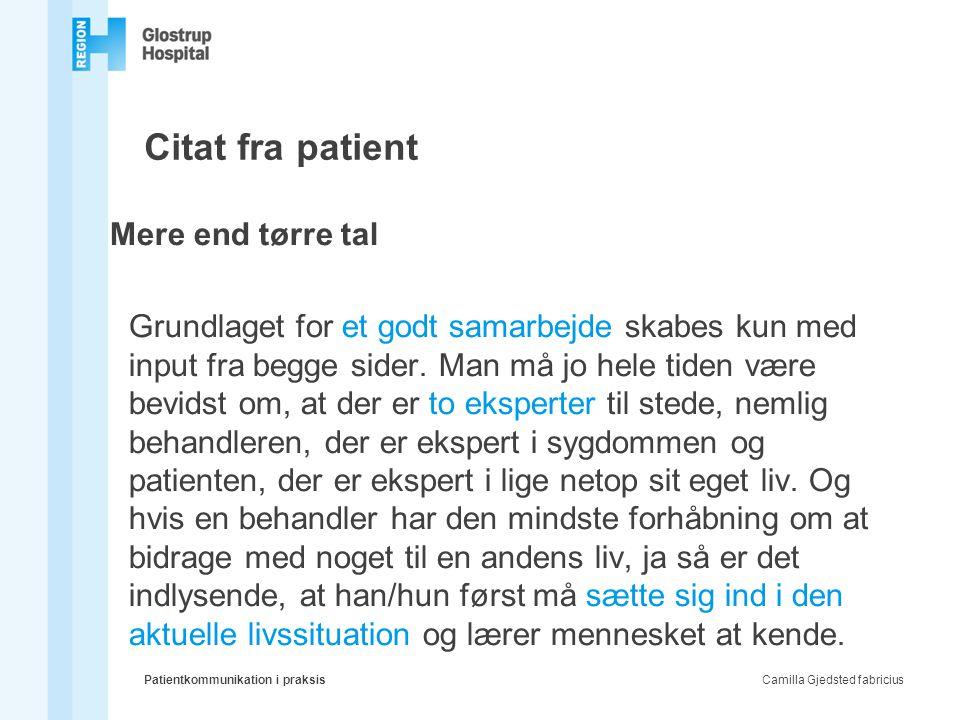 Citat fra patient Mere end tørre tal.