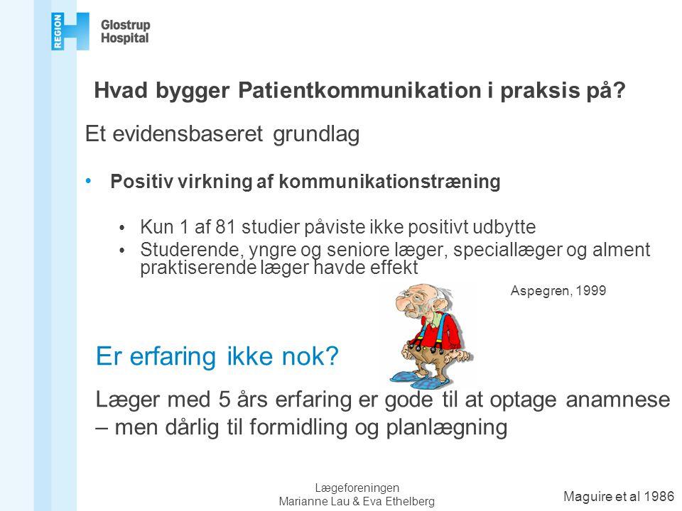 Hvad bygger Patientkommunikation i praksis på