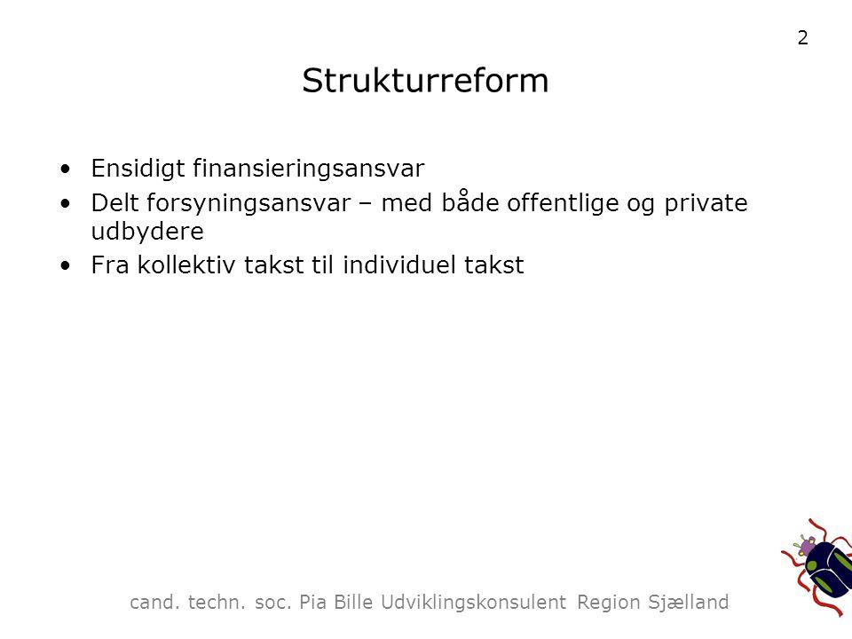 Strukturreform Ensidigt finansieringsansvar