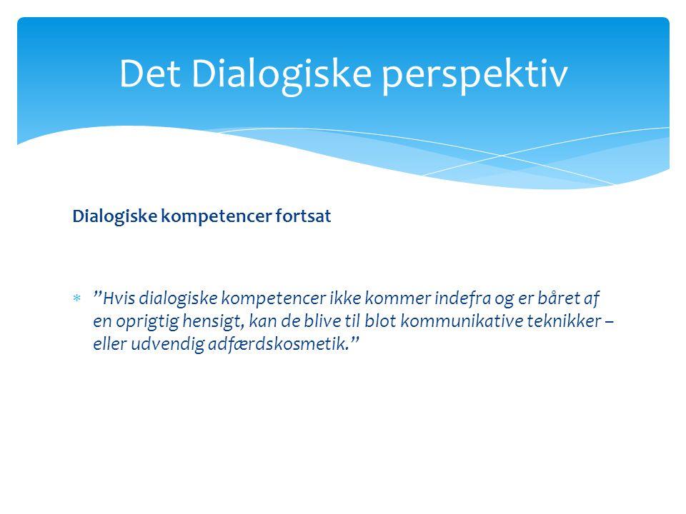 Det Dialogiske perspektiv