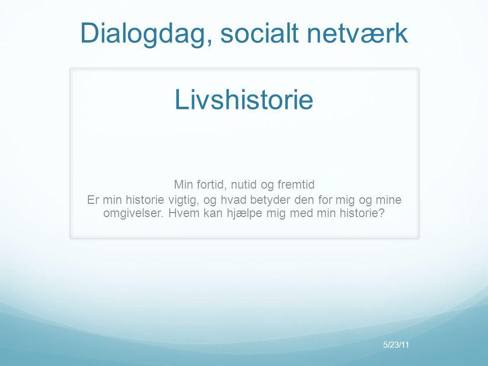 Dialogdag, socialt netværk Livshistorie