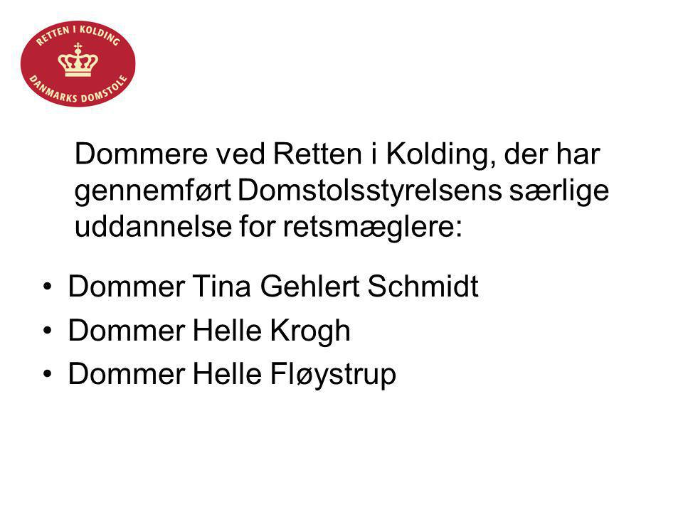 Dommer Tina Gehlert Schmidt Dommer Helle Krogh Dommer Helle Fløystrup