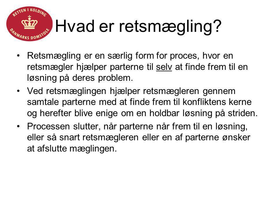 Helle Fløystrup Hvad er retsmægling