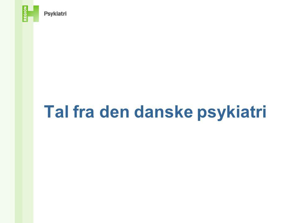 Tal fra den danske psykiatri