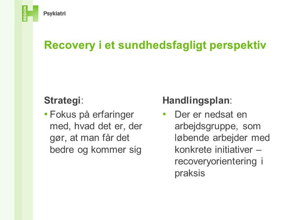 Recovery i et sundhedsfagligt perspektiv