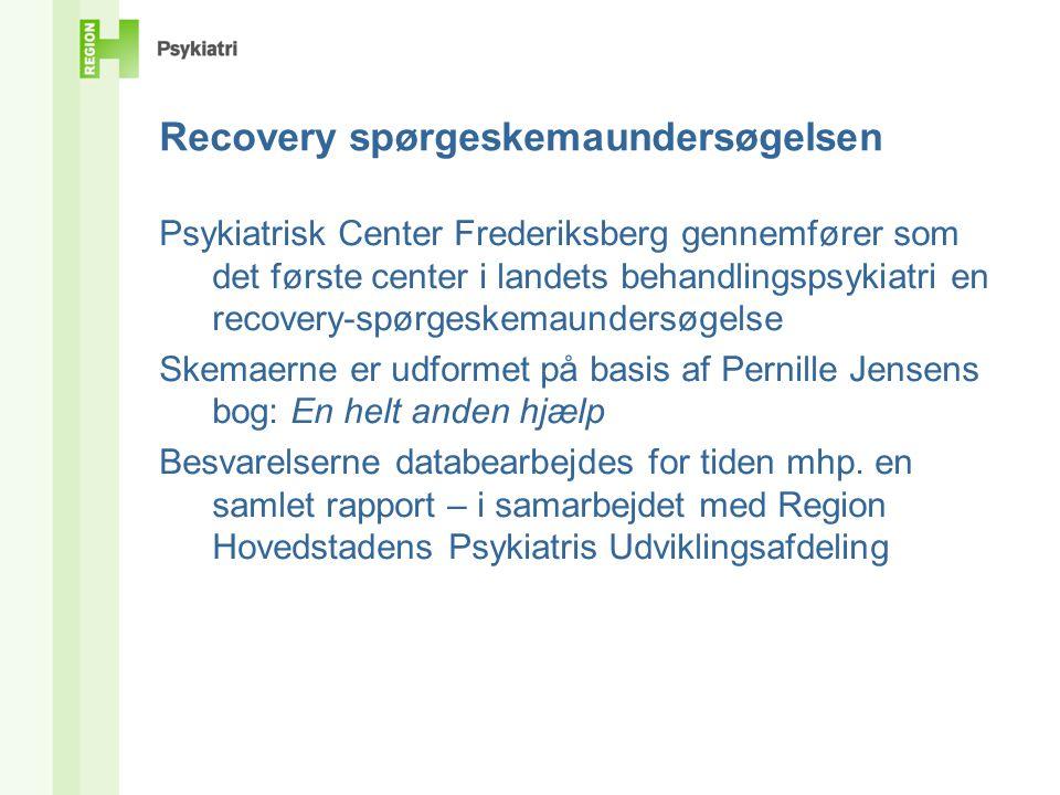 Recovery spørgeskemaundersøgelsen