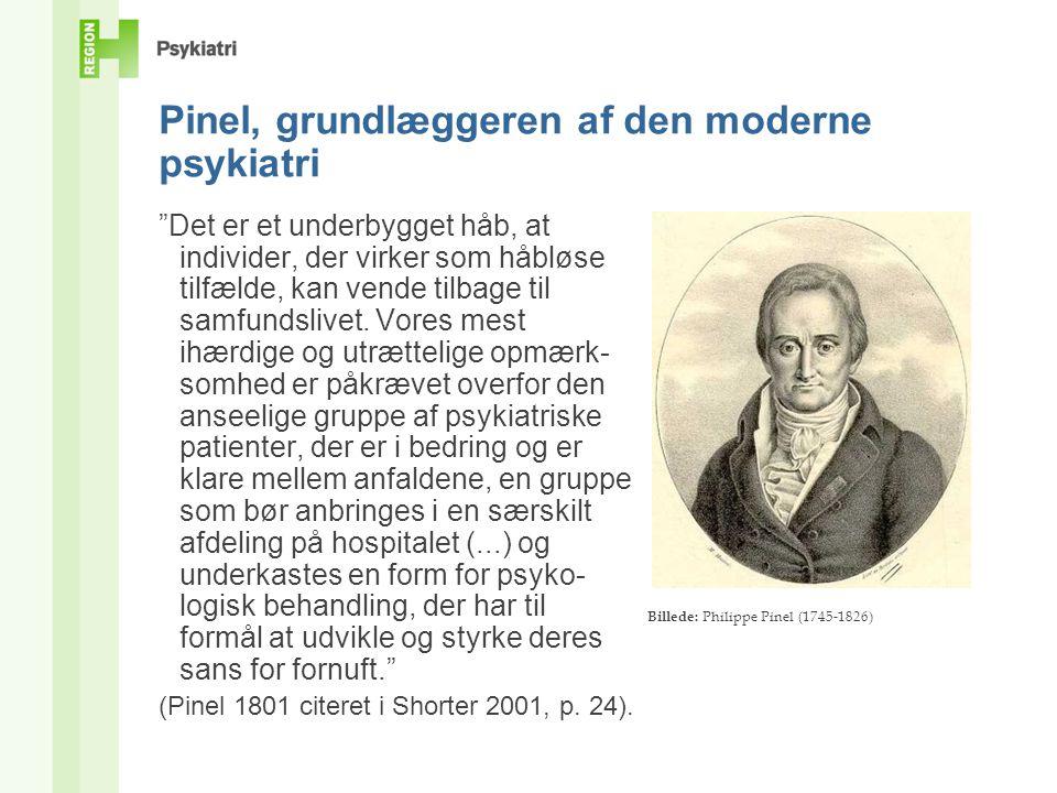 Pinel, grundlæggeren af den moderne psykiatri