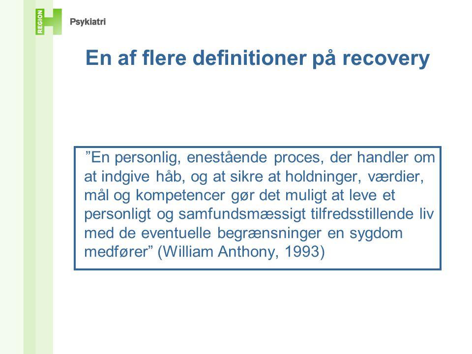 En af flere definitioner på recovery