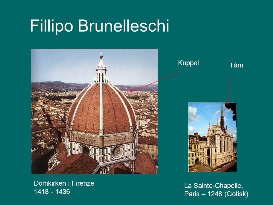 Fillipo Brunelleschi Kuppel Tårn Domkirken i Firenze 1418 - 1436