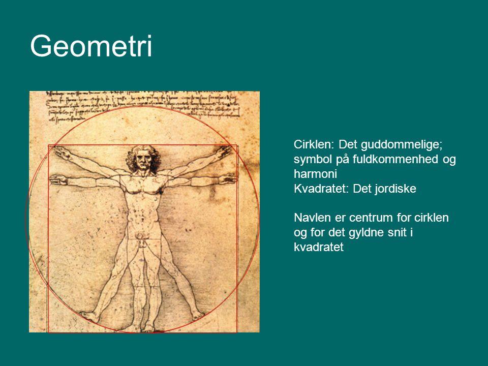 Geometri Cirklen: Det guddommelige; symbol på fuldkommenhed og harmoni