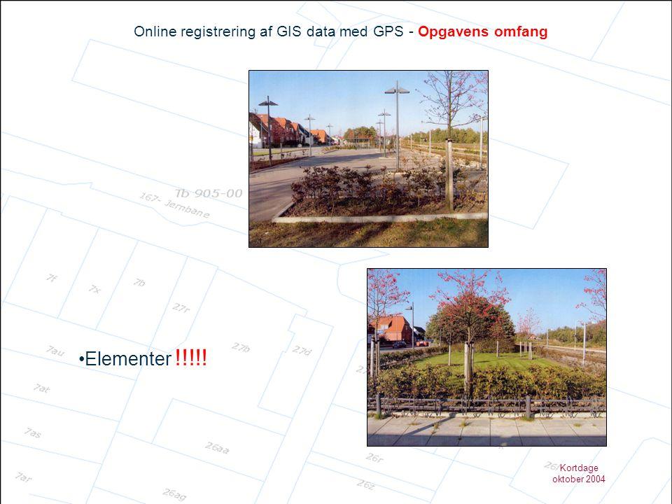 Online registrering af GIS data med GPS - Opgavens omfang