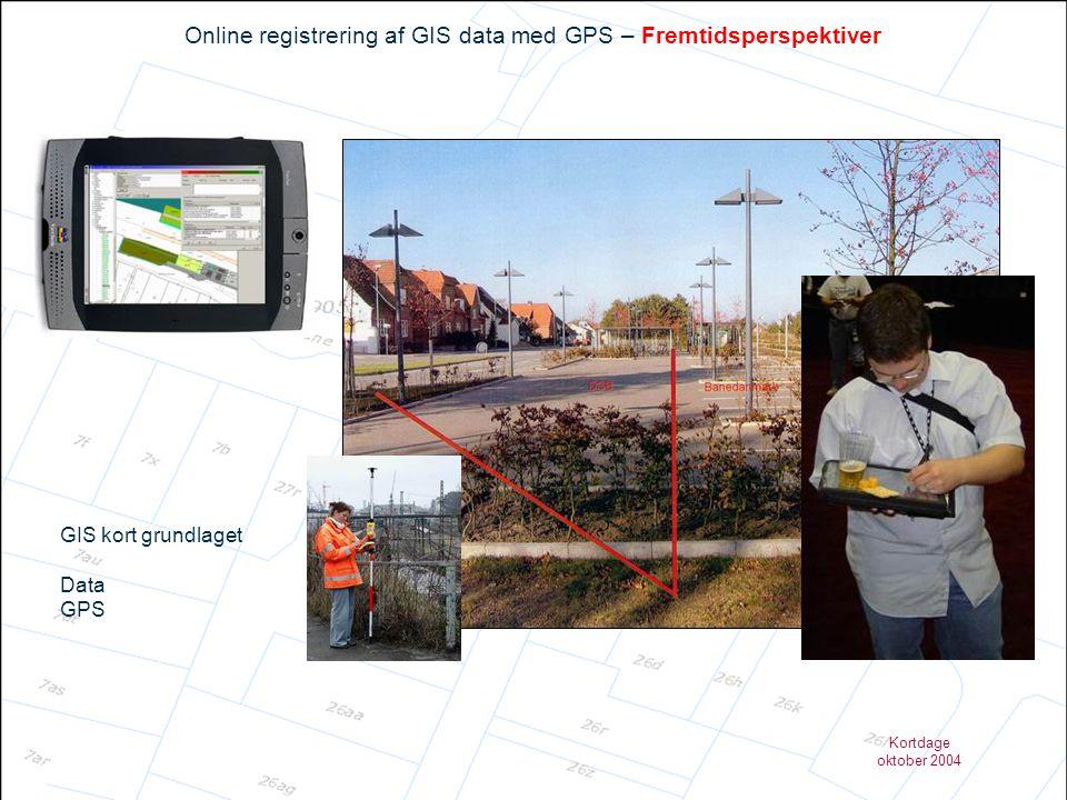 Online registrering af GIS data med GPS – Fremtidsperspektiver