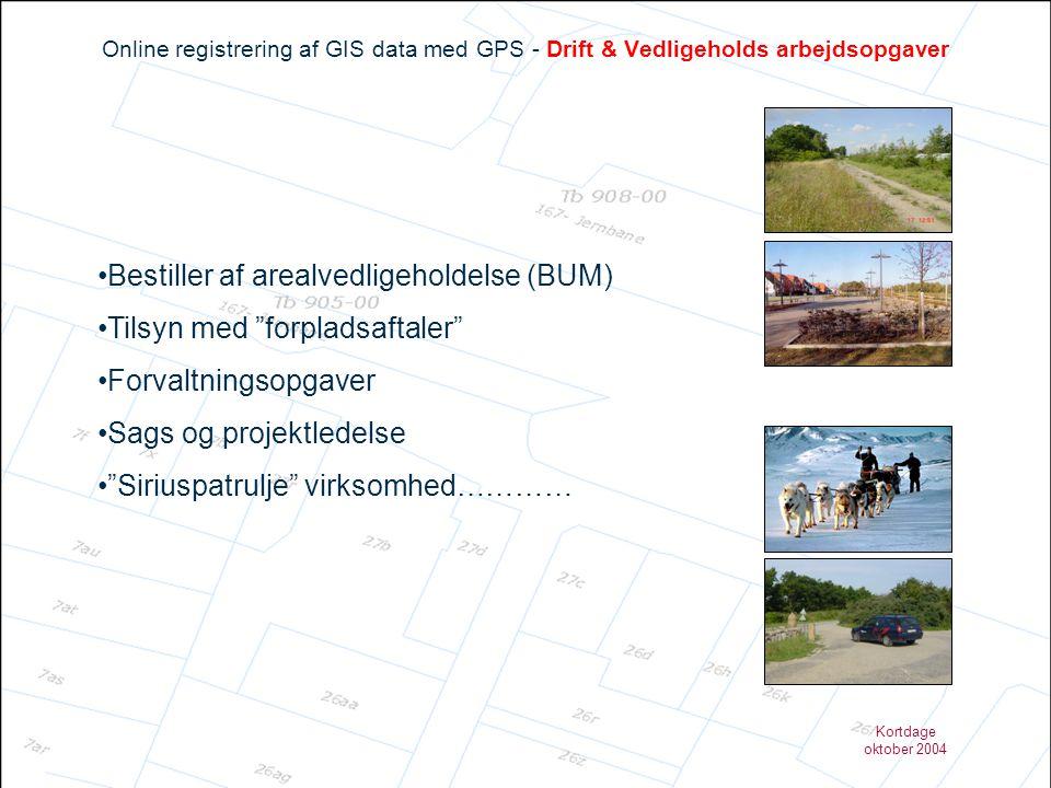 Bestiller af arealvedligeholdelse (BUM) Tilsyn med forpladsaftaler