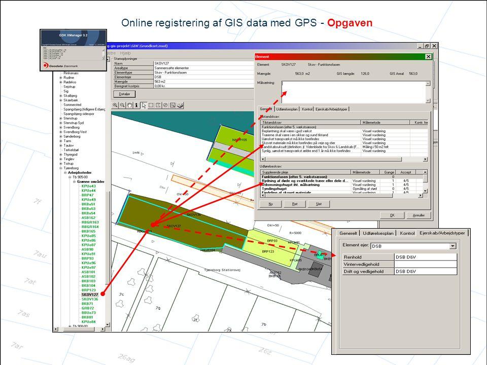 Online registrering af GIS data med GPS - Opgaven