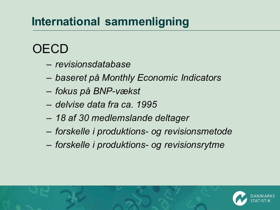 International sammenligning