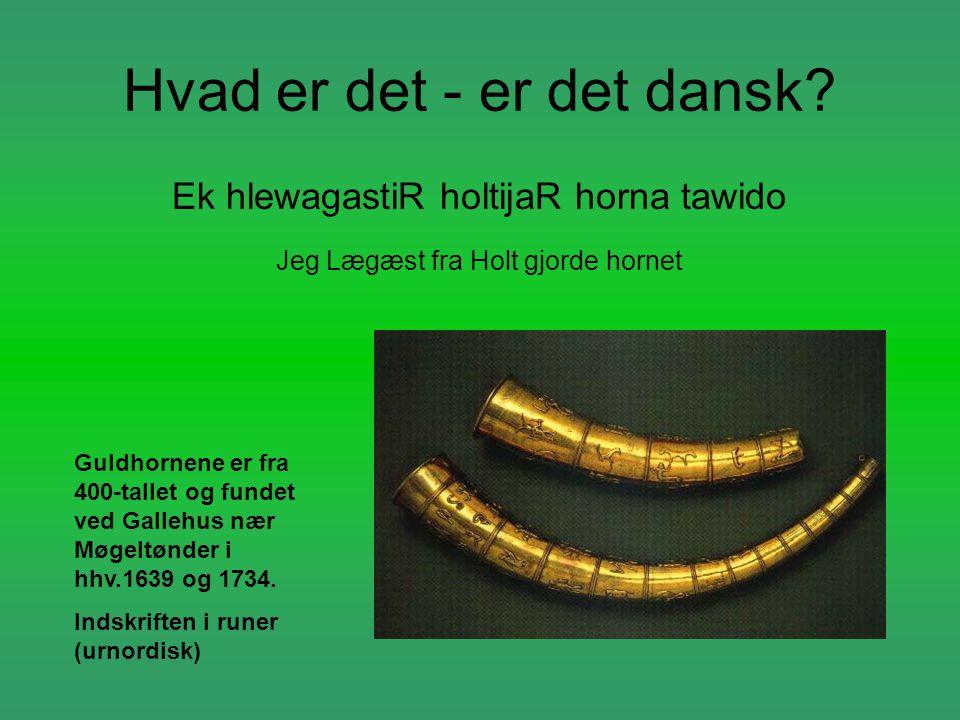 Hvad er det - er det dansk