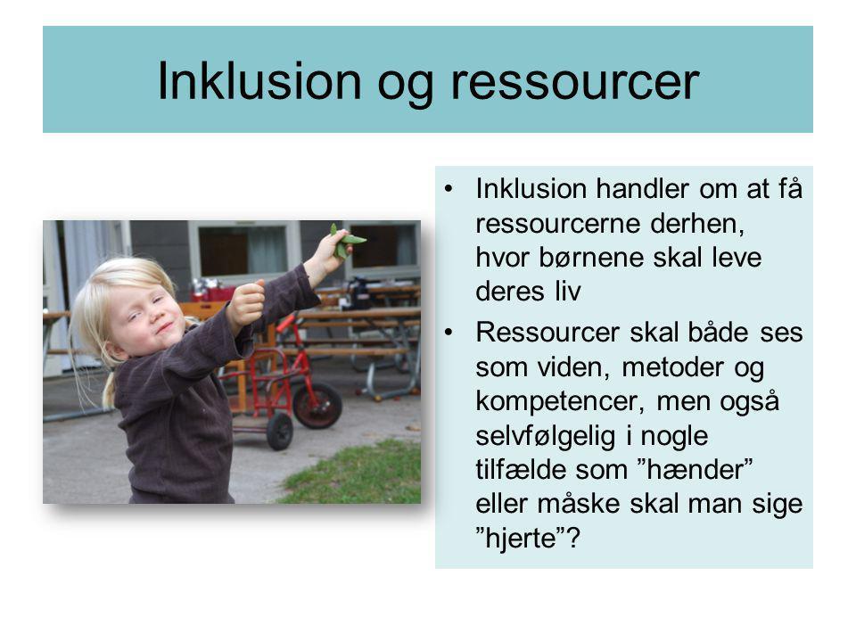 Inklusion og ressourcer