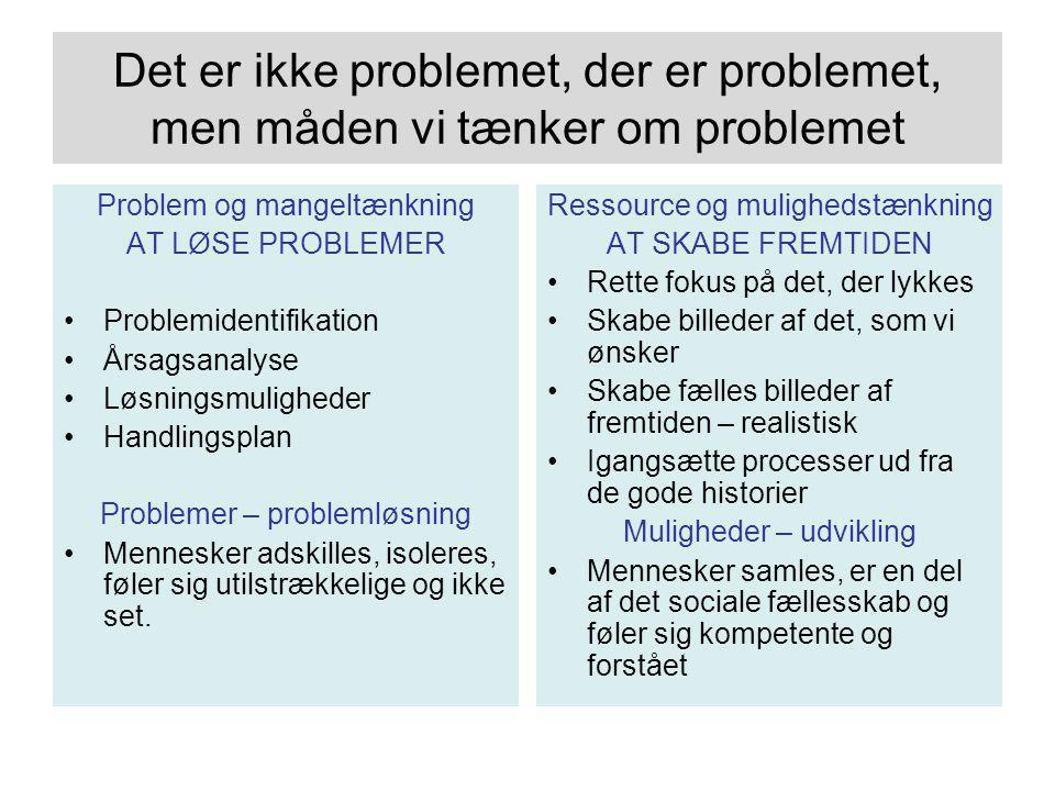 Det er ikke problemet, der er problemet, men måden vi tænker om problemet