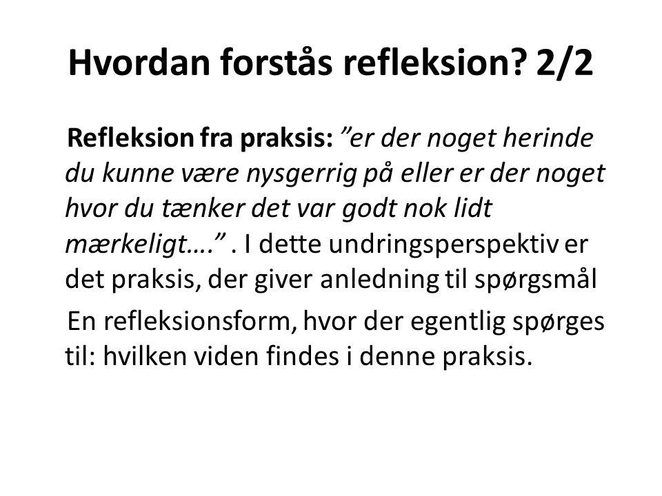 Hvordan forstås refleksion 2/2
