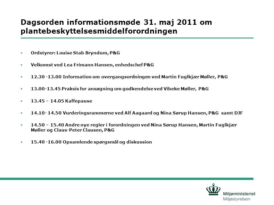 Dagsorden informationsmøde 31