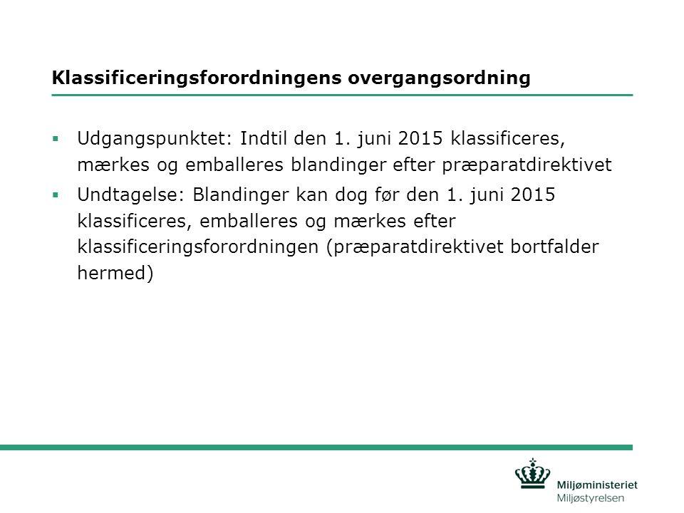 Klassificeringsforordningens overgangsordning