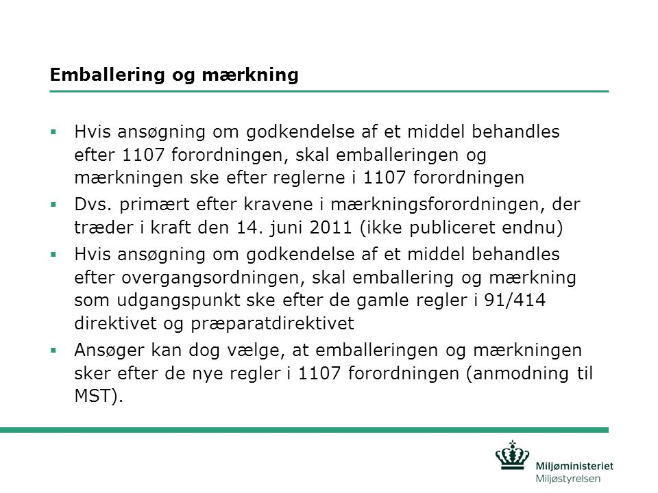 Emballering og mærkning