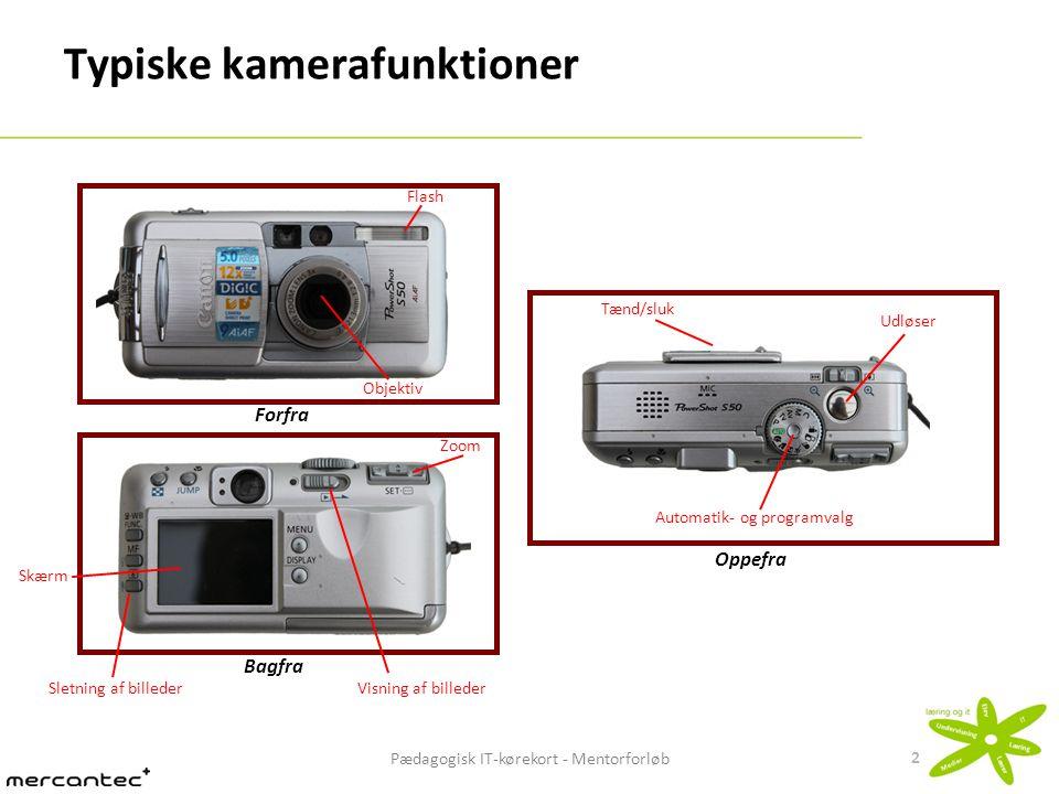 Typiske kamerafunktioner