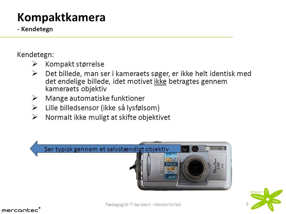 Kompaktkamera - Kendetegn