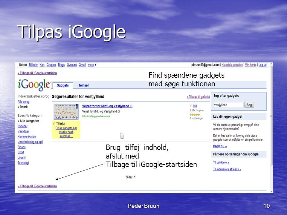 Tilpas iGoogle Find spændene gadgets med søge funktionen