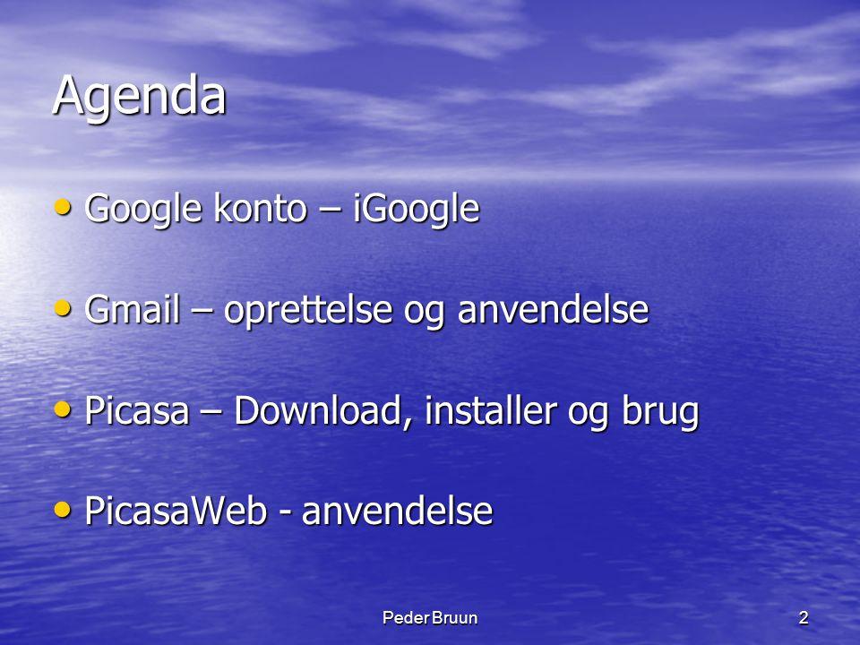 Agenda Google konto – iGoogle Gmail – oprettelse og anvendelse